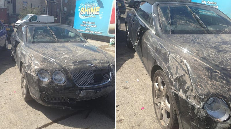 Fake Car Wash Attendent Takes $123,000 Bentley And Crashes It