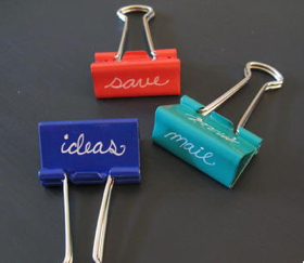 Task-Defined Binder Clips for Your Hipster PDA