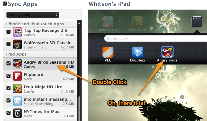 Double-Click Apps in iTunes to Show Their Location on Your iOS Home Screen