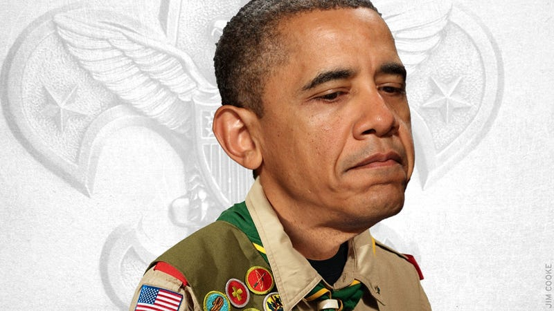 Obama Urges Boy Scouts to Pull the Same Bullshit He Did Last Year