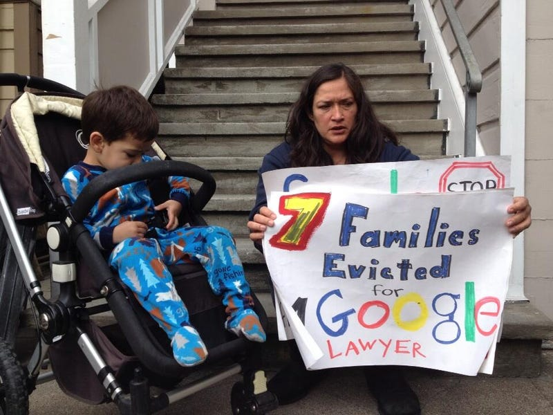 Protesters Target Home of Google Exec Accused of Evicting Families
