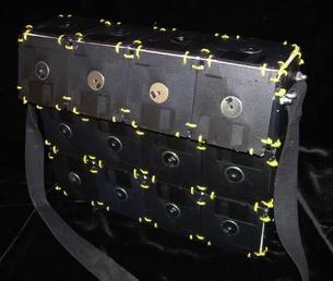 DIY Floppy Disk Laptop Bag Redux