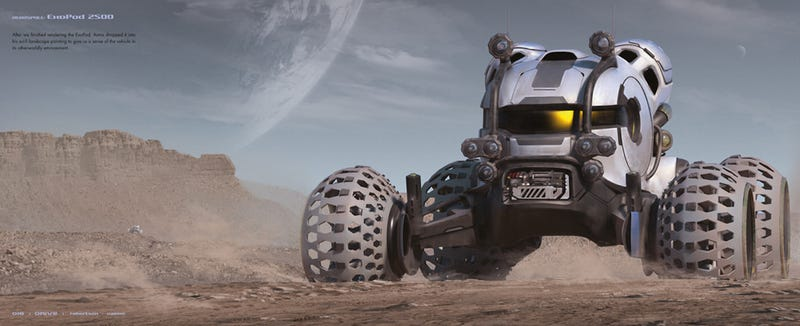 The awesome spaceship and vehicle concepts of Scott Robertson