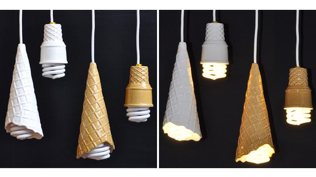 Soft Serve Cone Lamps: What? No Sprinkles?
