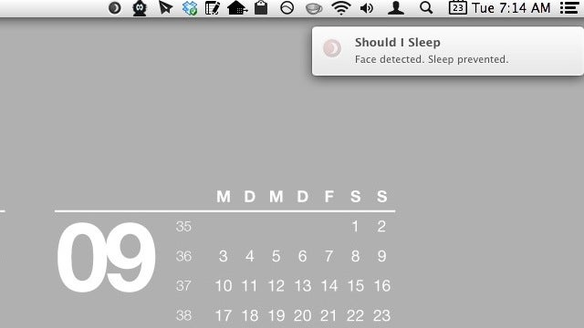 Should I Sleep Keeps Your Mac Display Awake As Long As You're In Front of the Webcam