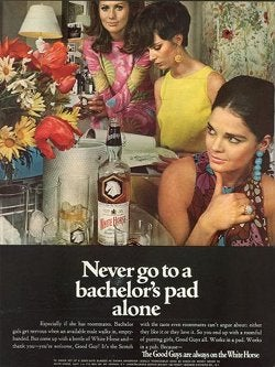"""Bachelor Gals Get Nervous When An Available Male Walks In, Empty-Handed."""
