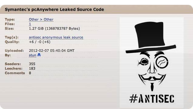 Hackers Publish Symantec's Source Code After $50,000 Extortion Attempt Fails