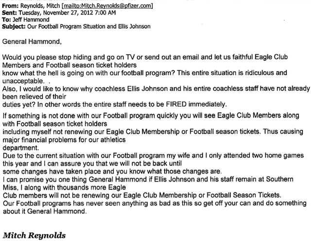 """In The Oil Business, We Call It A Dry Hole"": Angry Letters Boosters Send The AD When The Football Team Goes 0-12"