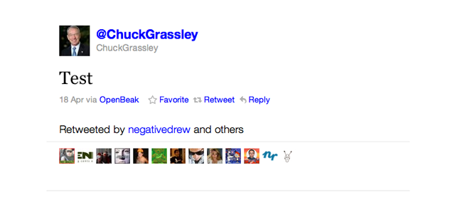 Senator Chuck Grassley Is the Worst Twitter User in the United States of America