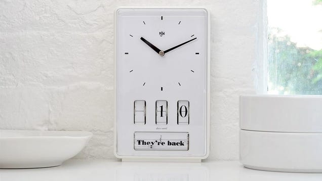 This Sleek Clock Let's You Count Down to Some Terrifyingly Ambiguous Events