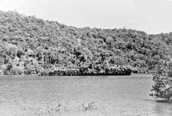 Historic Naval Gunship, Fully Cloaked