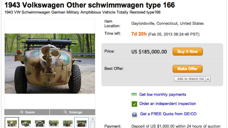 Nazis Used This Volkswagen To Cross Lakes And Rivers