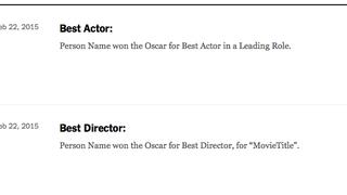 My Relative Won an Oscar!