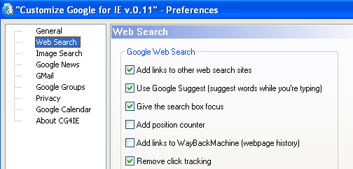 Customize Google for IE Improves Searches, Privacy