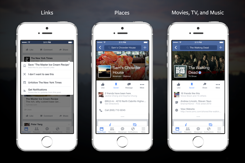 Facebook Adds a Save Button Since There's Too Much Crap on Your News Feed