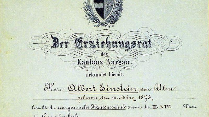 Einstein Actually Had Excellent Grades