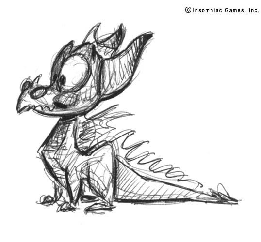 See How Spyro The Dragon Evolved In These Early Sketches