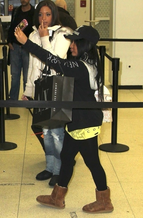 Rare Snooki Monster Seen Selling Snacks at the Airport