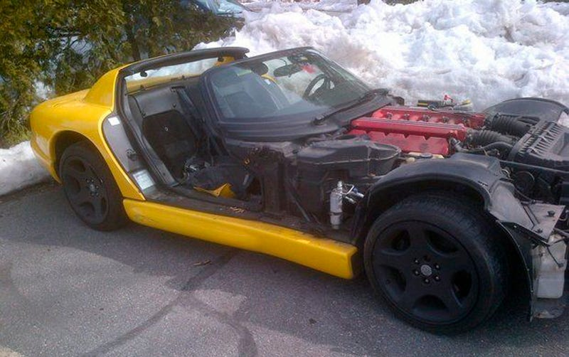 Sad, Stolen, Stripped Viper Found 300 Miles From Home