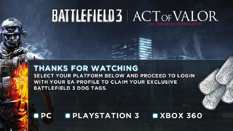 Tolerate a Three-Minute Trailer, Get a Set of Battlefield Dogtags