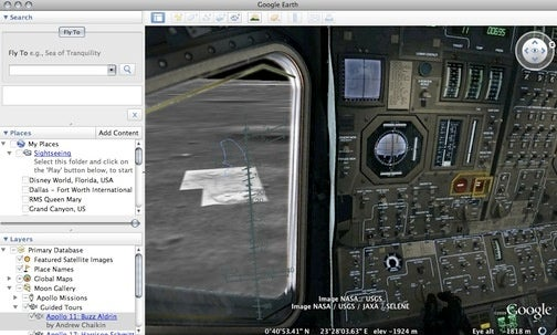 Google Earth Lands on the Moon