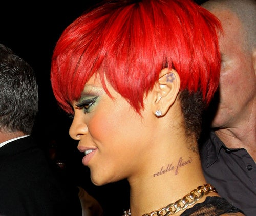 Rihanna Defends Her French Gibberish Tattoo