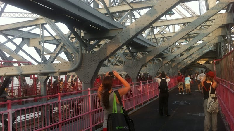 A Century Old Bridge, Acrobats, Digital Cameras, and the Police