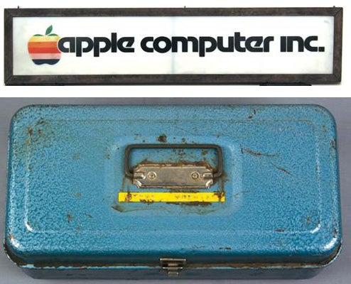 Apple's First Trade Show Sign, Woz's Toolbox Up For Auction