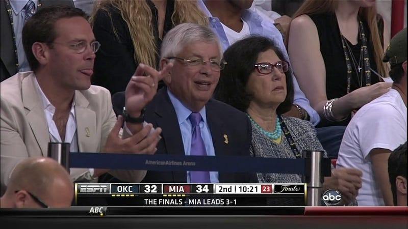 Why Was David Stern Sitting Next To One Of Rupert Murdoch's Sons Last Night?