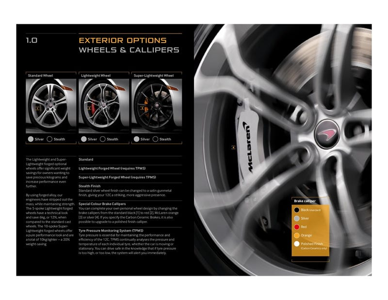 McLaren MP4-12C Options Order Guide: Gallery