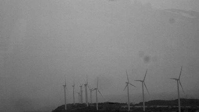 Watch These Wind Turbines Shoot Incredible Lightning Into a Storm