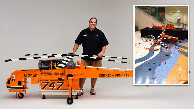 Idiot Teens Destroy Largest Lego Helicopter Ever—Update: Two Arrested