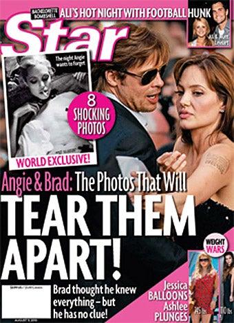 Here Come Angelina Jolie's Nipple-Taped Dog Leash Nudie Pics