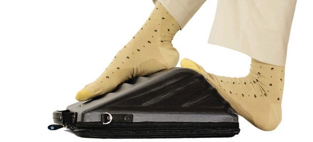 Maybe Less Flights Will Be Diverted With This Foot-Massaging Laptop Bag