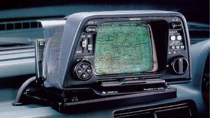 The First Commercially Available Car Navigation System Was From 1981