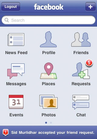 Facebook iPhone App v3.2 Brings Places and Background Photo Uploading