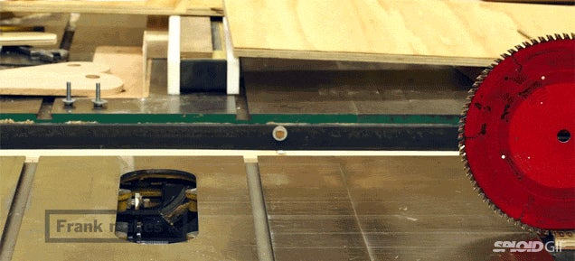 Watch all the parts of a table saw magically self-assemble itself
