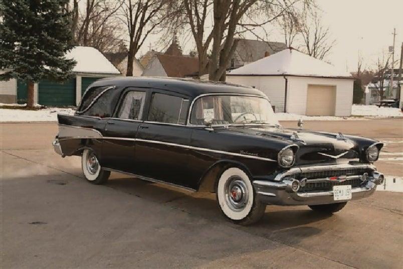 1957 Chevrolet Landau Hearse For 35 000