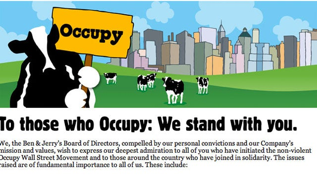 Ben and Jerry's Moos Its Support For Protesters