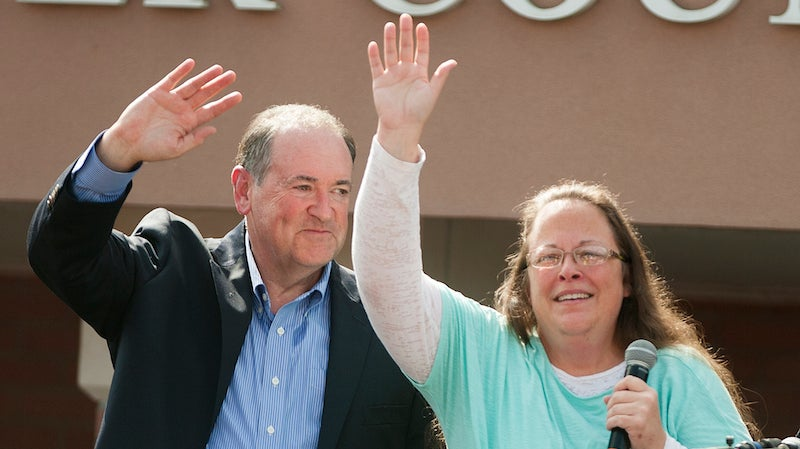 "Mike Huckabee Owes $25,000 for Using ""Eye of the Tiger"" at Rally Without Permission"