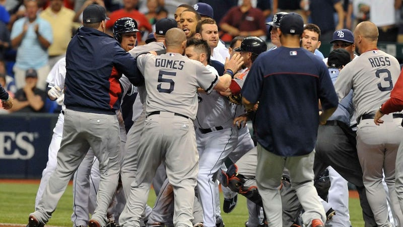 14 Innings And A Bench-Clearing Scrap: Just A Typical Red Sox-Rays Game