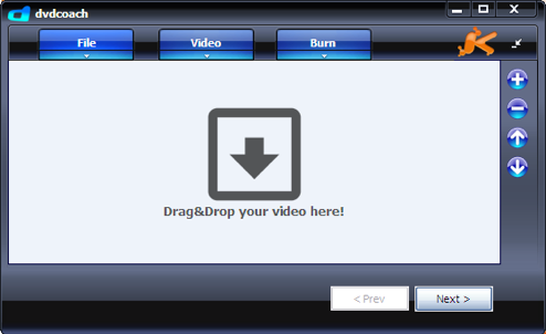 DVDCoach Express Burns Video Files to Playable DVDs