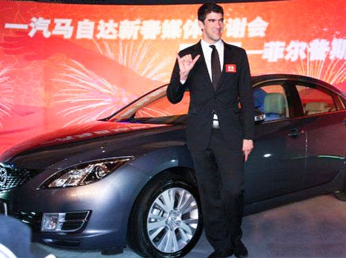 Mazda China Cool With Pot, Continues Michael Phelps Sponsorship