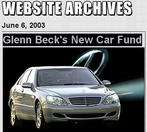 """Glenn Beck To Fans: """"Oh Lordy, Won't You Buy Me A Mercedes-Benz"""""""