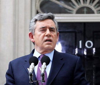 Gordon Brown Gets Ready to Say Goodbye