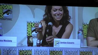 Tatiana Maslany Receives The Coolest Fan-Made <em>Orphan Black</em> Gift EVER