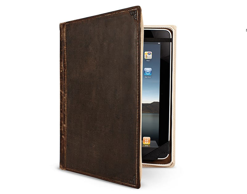 Turn Your iPad Into a Handsome Leather Bound Book