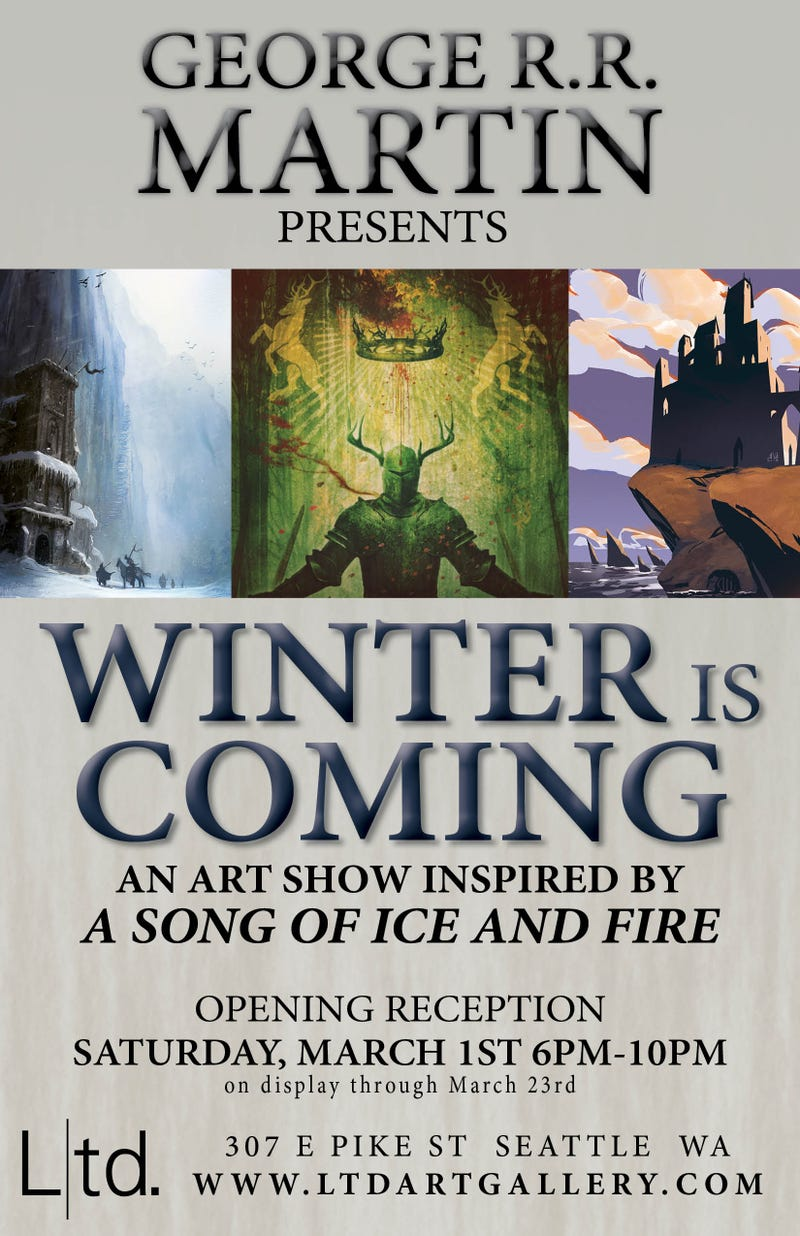 An Exclusive Look at Winter is Coming, George R.R. Martin's Art Show!