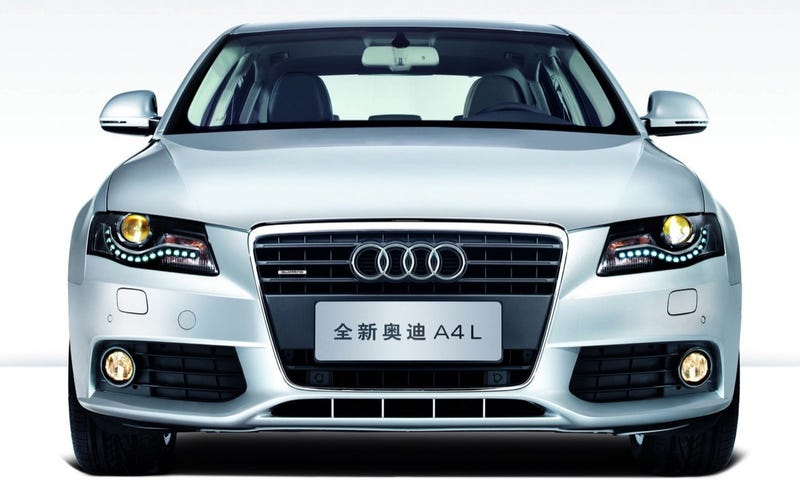 Extra-Long Wheelbase Audi A4L Revealed In China