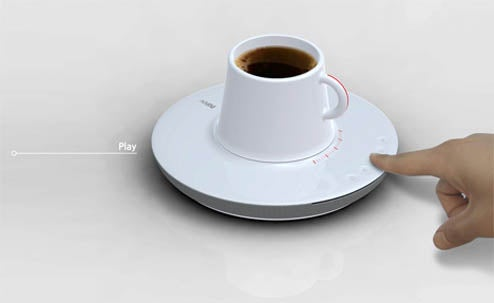 Saucer CD Player With Dockable Cup, It Could Happen!